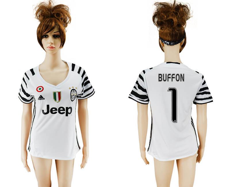 2016-17 Juventus 1 BUFFON Third Away Women Soccer Jersey