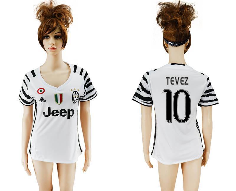 2016-17 Juventus 10 TEVEZ Third Away Women Soccer Jersey