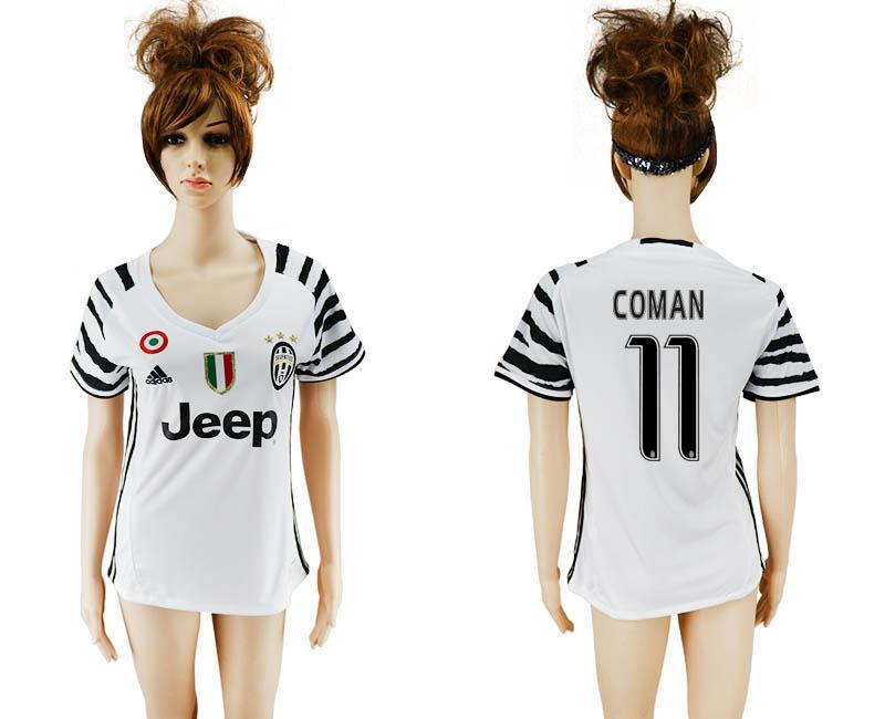 2016-17 Juventus 11 COMAN Third Away Women Soccer Jersey