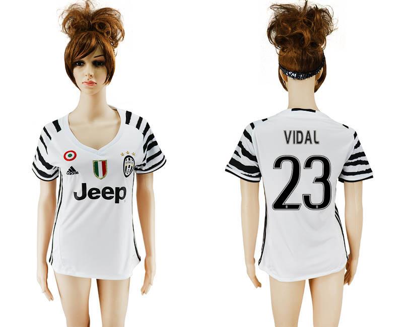 2016-17 Juventus 23 VIDAL Third Away Women Soccer Jersey