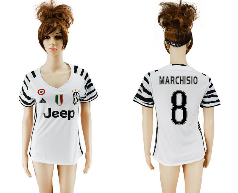 2016-17 Juventus 8 MARCHISIO Third Away Women Soccer Jersey
