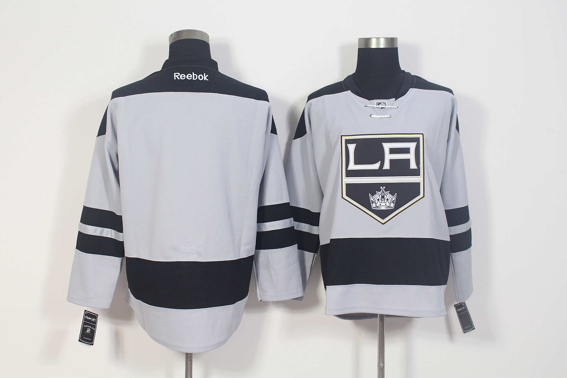 Kings Blank Grey Alternate Premier Reebok Jersey