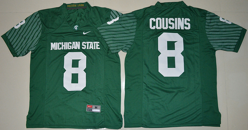 Michigan State Spartans 8 Kirk Cousins Green College Jersey