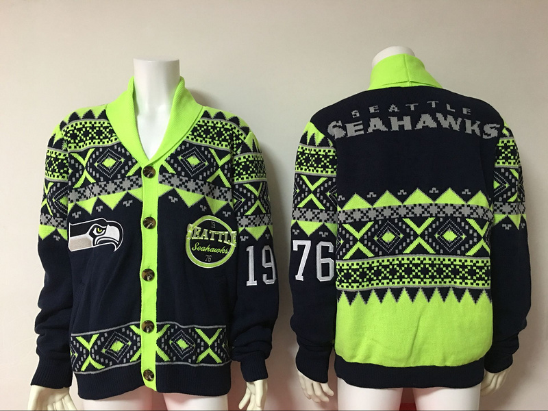 Seattle Seahawks NFL Adult Ugly Cardigan Sweater