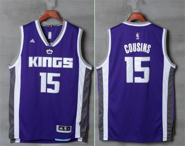Kings 15 DeMarcus Cousins Purple Swingman Jersey