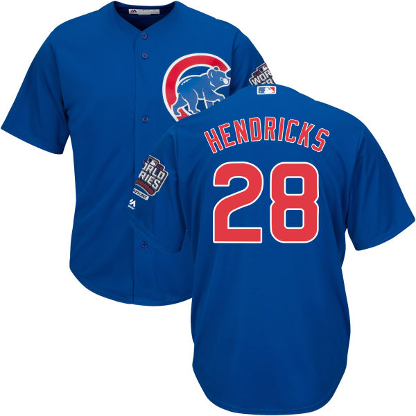 Cubs 28 Kyle Hendricks Royal 2016 World Series New Cool Base Jersey