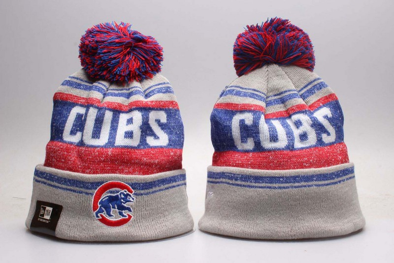 Cubs Team Logo Grey Knit Hat YP