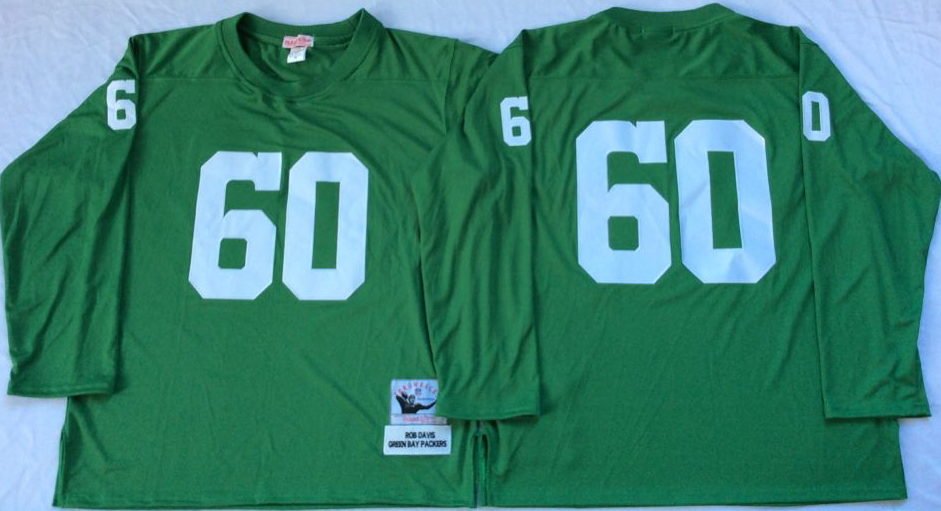Packers 60 Green Long Sleeved Throwback Jersey