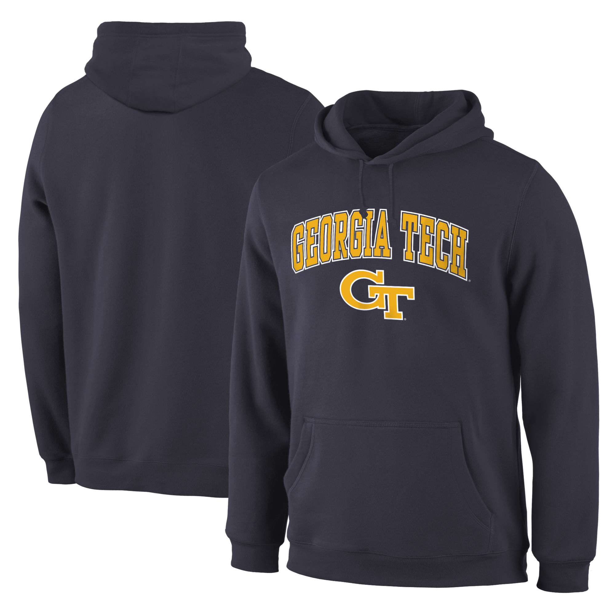 Georgia Tech Yellow Jackets Navy Campus Pullover Hoodie