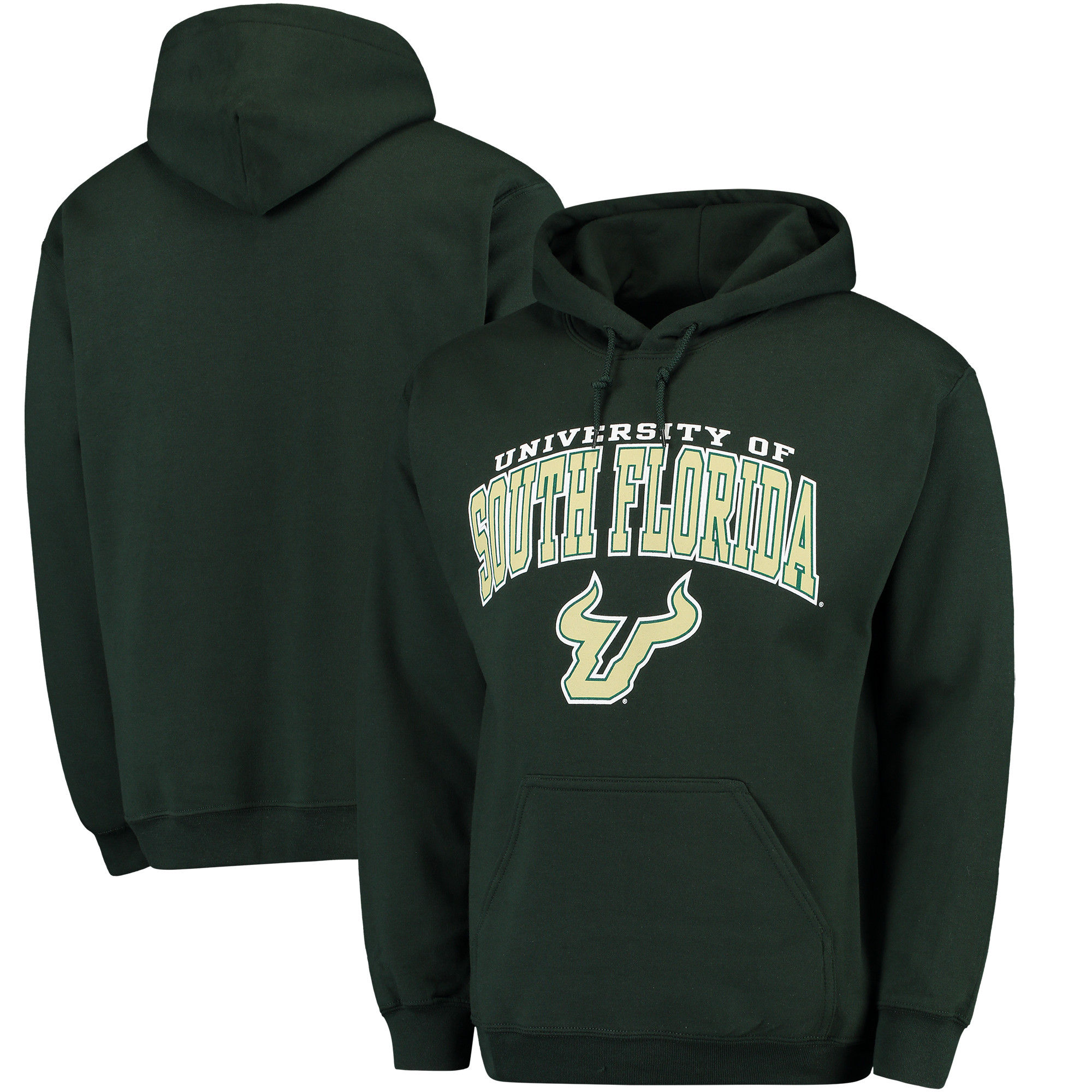 South Florida Bulls Green Campus Pullover Hoodie