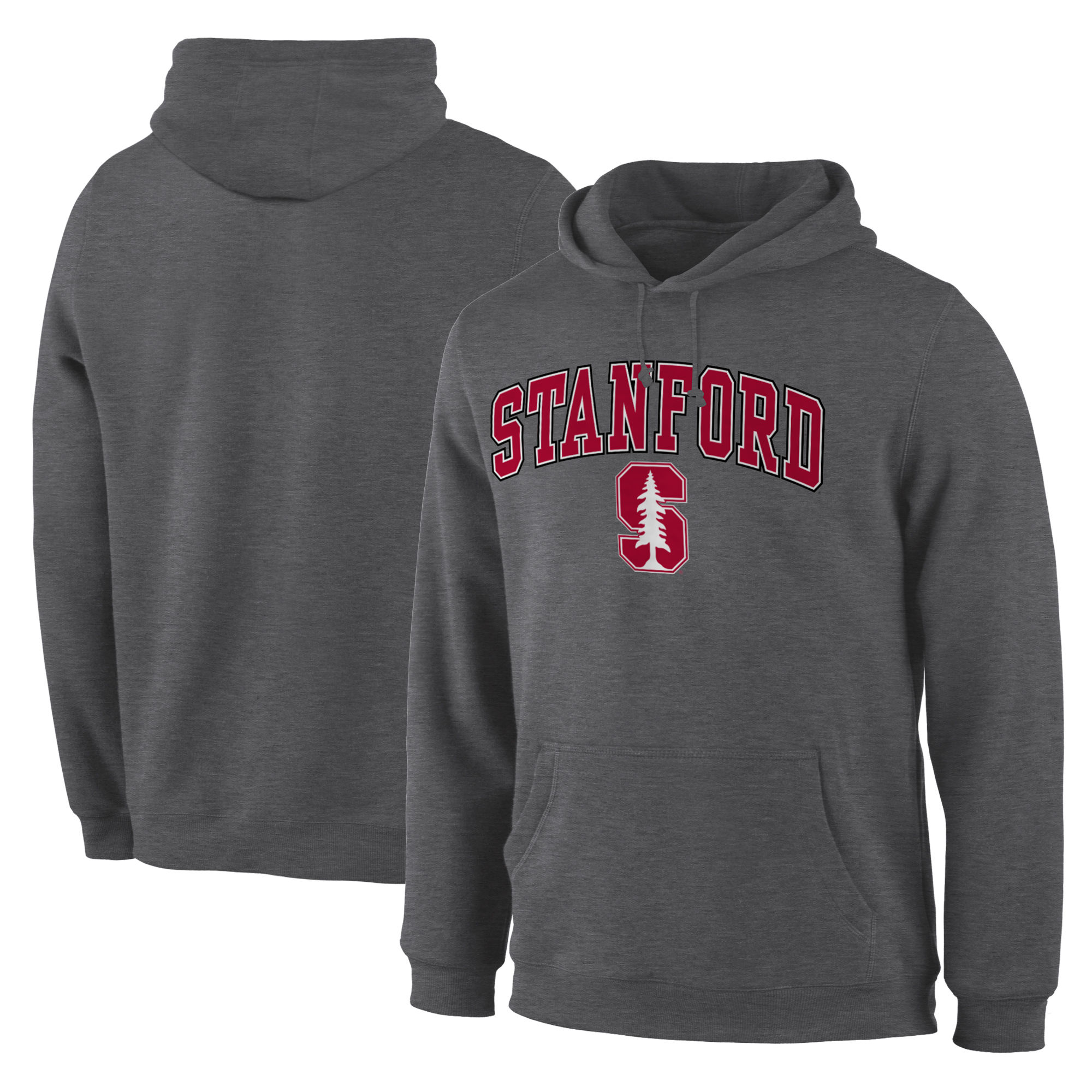 Stanford Cardinal Charcoal Campus Pullover Hoodie