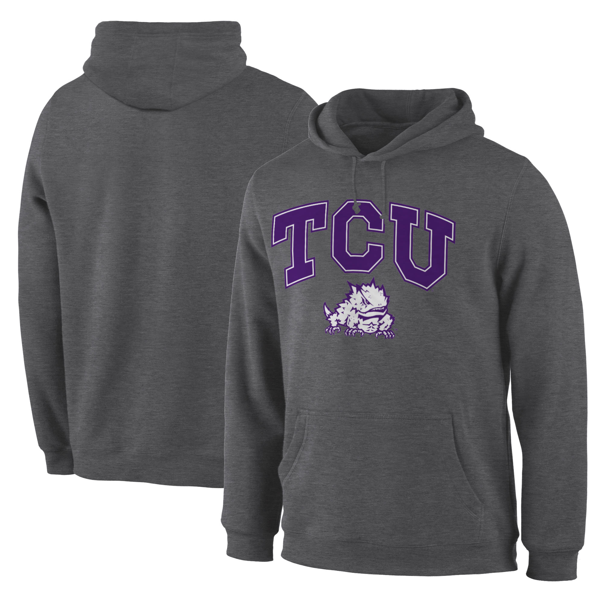 TCU Horned Frogs Charcoal Campus Pullover Hoodie