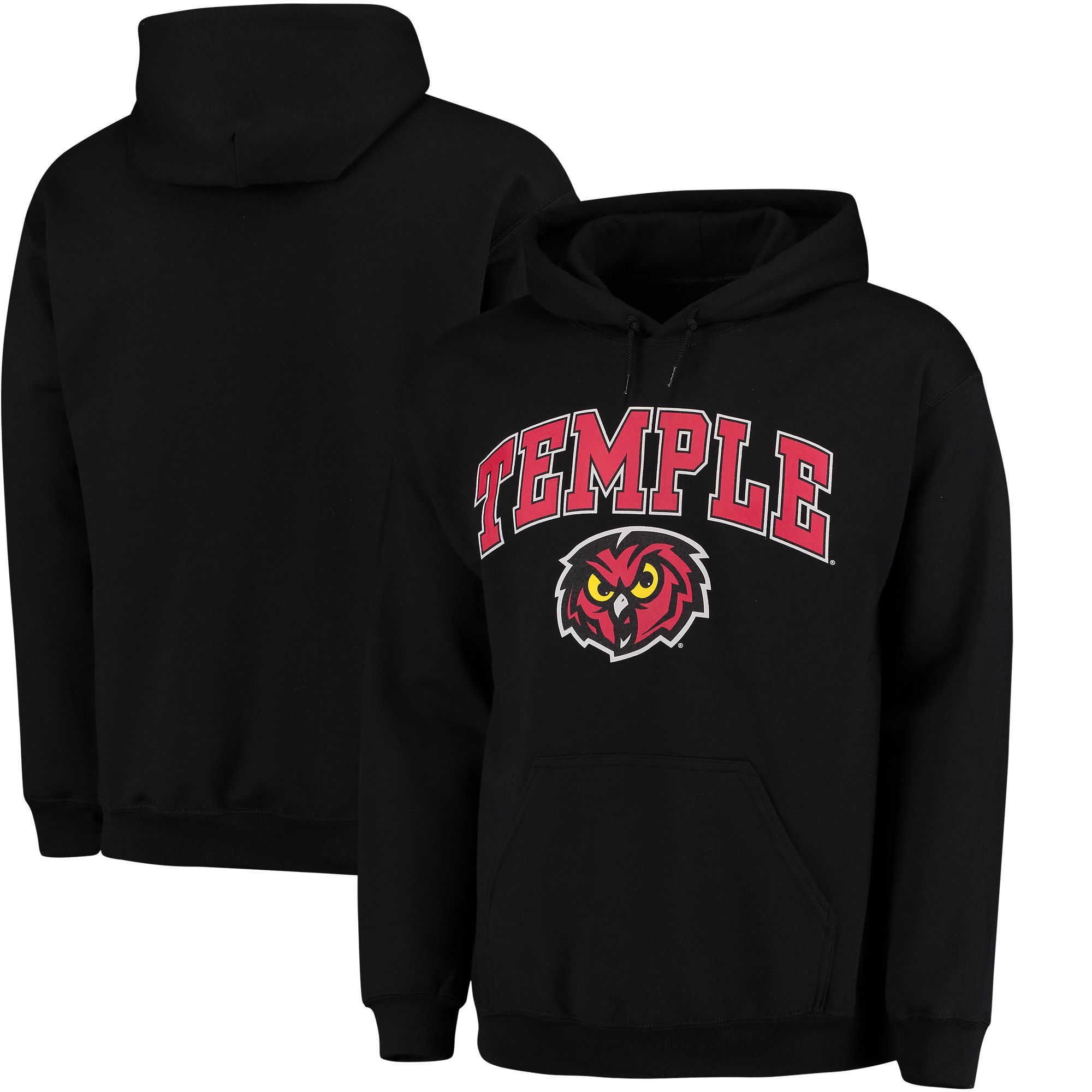 Temple Owls Red Campus Pullover Hoodie (2)