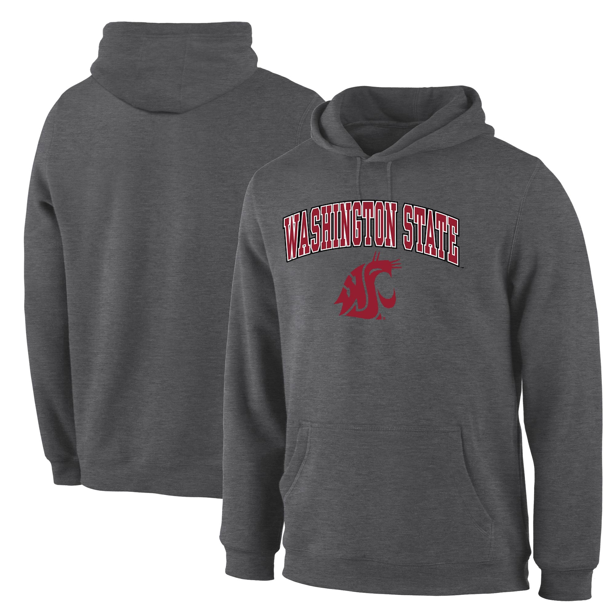 Washington State Cougars Charcoal Campus Pullover Hoodie