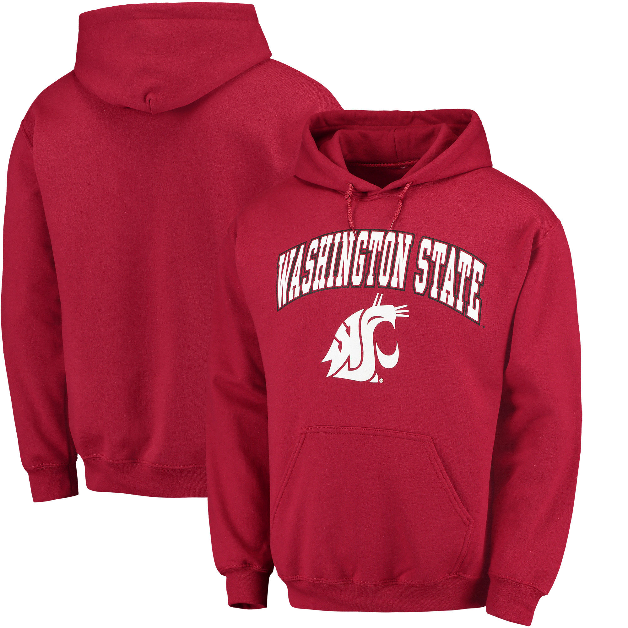 Washington State Cougars Red Campus Pullover Hoodie