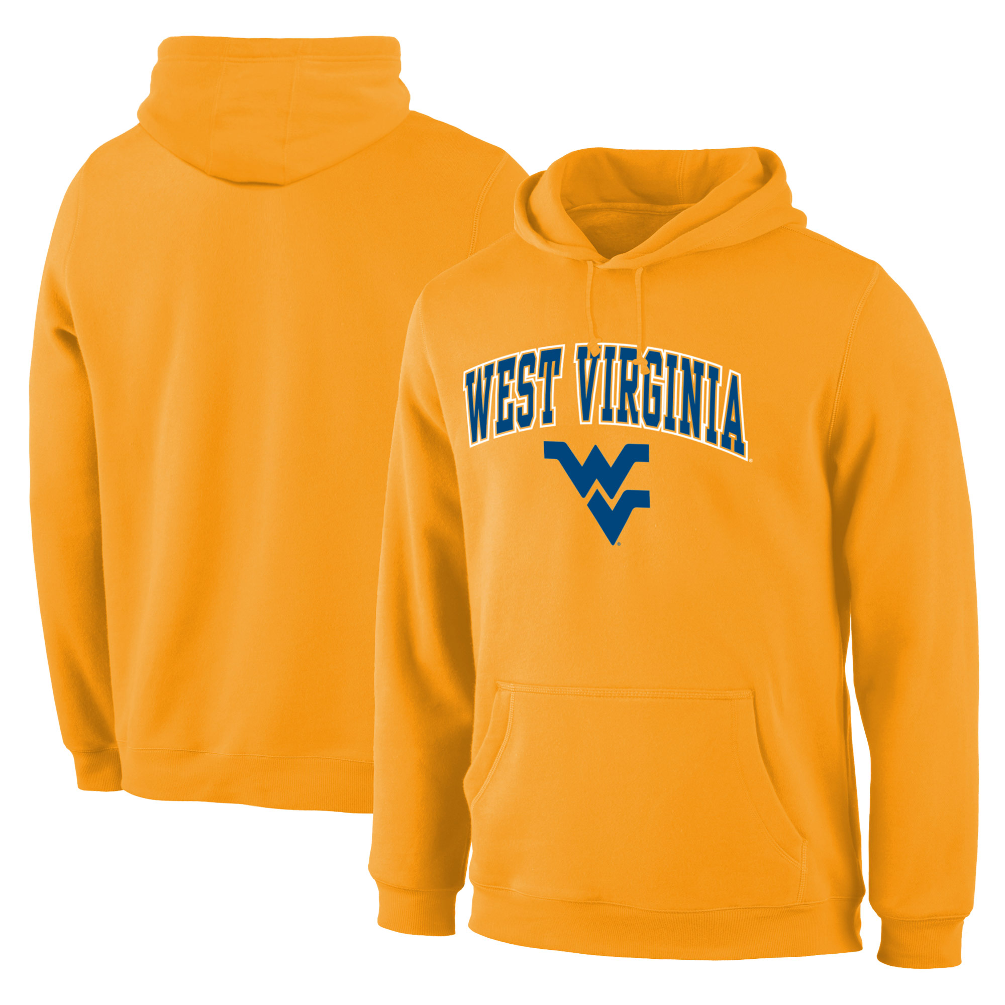 West Virginia Mountaineers Gold Campus Pullover Hoodie