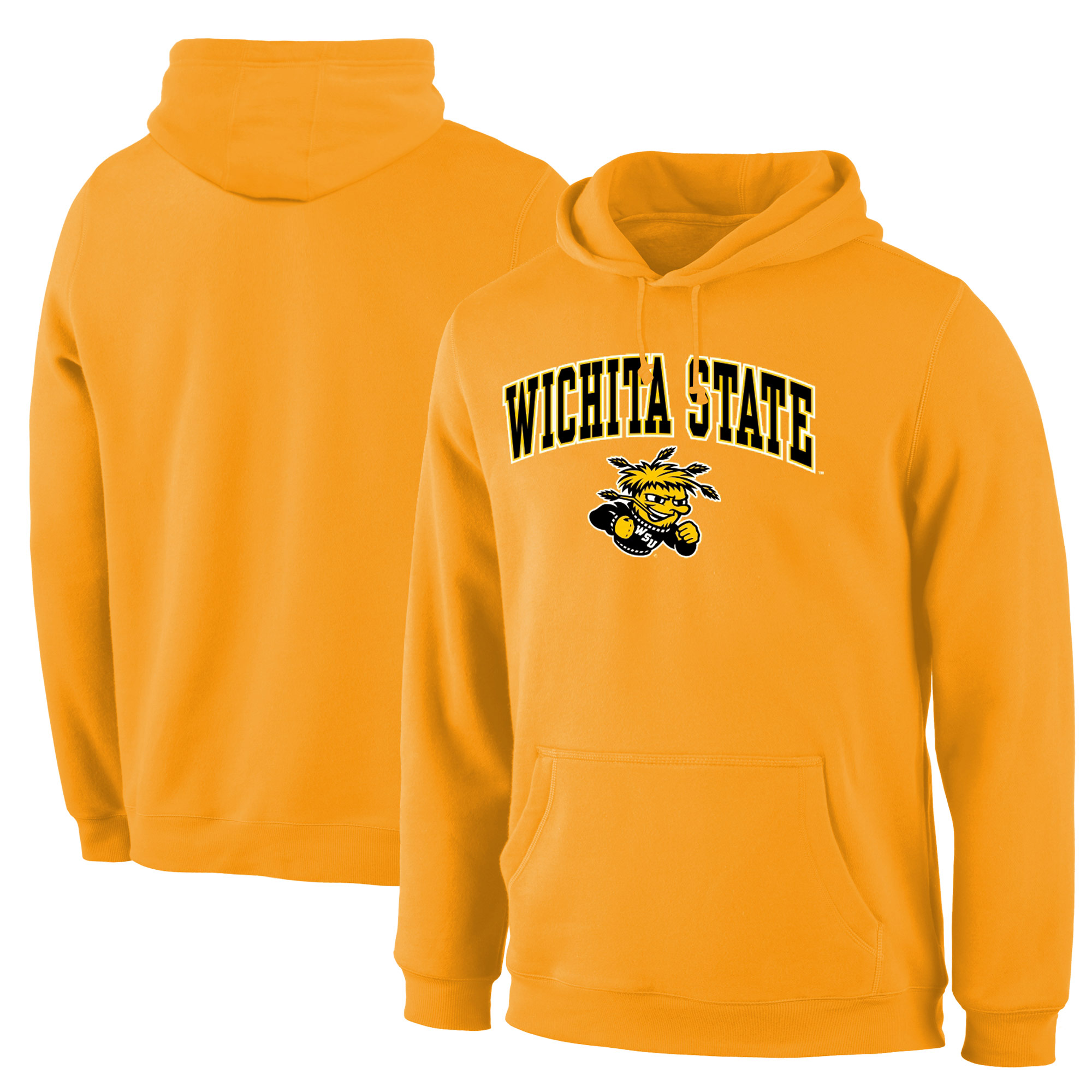 Wichita State Shockers Gold Campus Pullover Hoodie