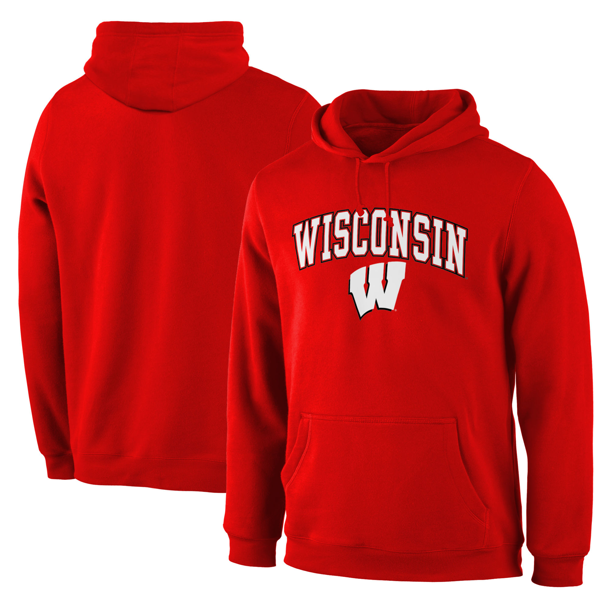 Wisconsin Badgers Red Campus Pullover Hoodie