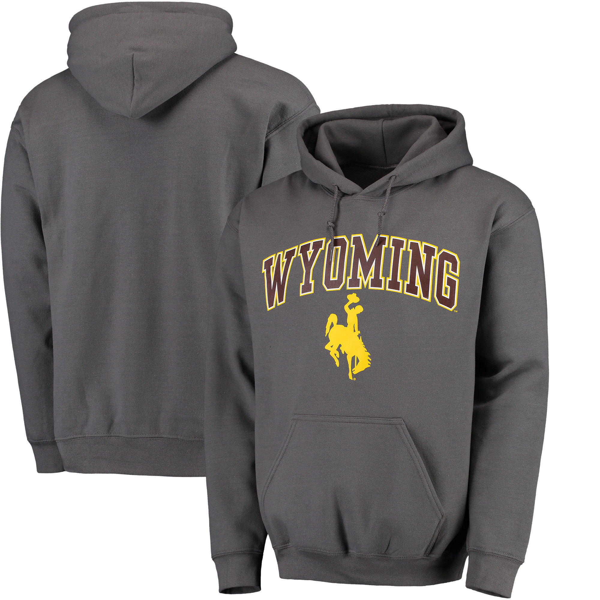 Wyoming Cowboys Charcoal Campus Pullover Hoodie