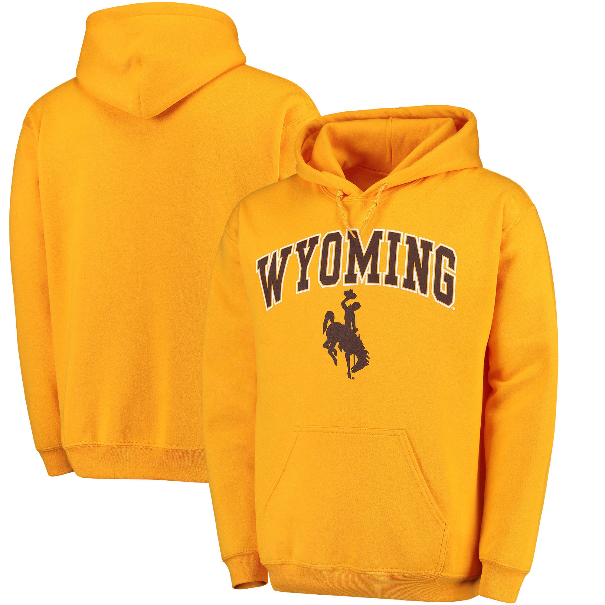 Wyoming Cowboys Gold Campus Pullover Hoodie