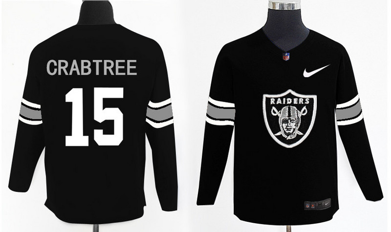Nike Raiders 15 Michael Crabtree Black Knit Sweater