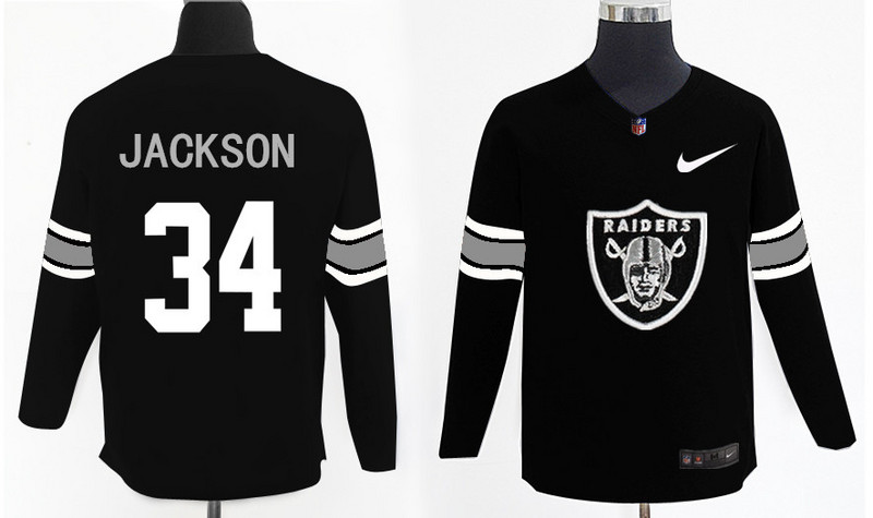 Nike Raiders 34 Bo Jackson Black Knit Sweater