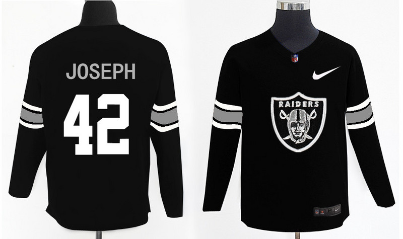 Nike Raiders 42 Karl Joseph Black Knit Sweater
