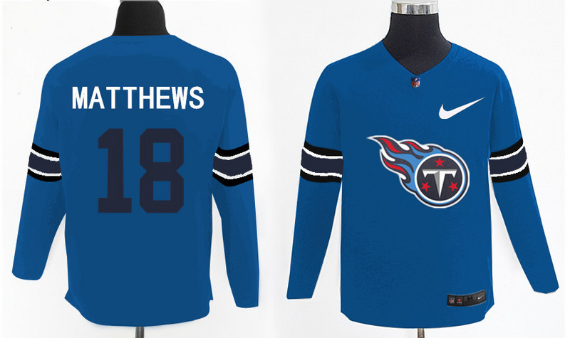 Nike Titans 18 Rishard Matthews Light Blue Knit Sweater
