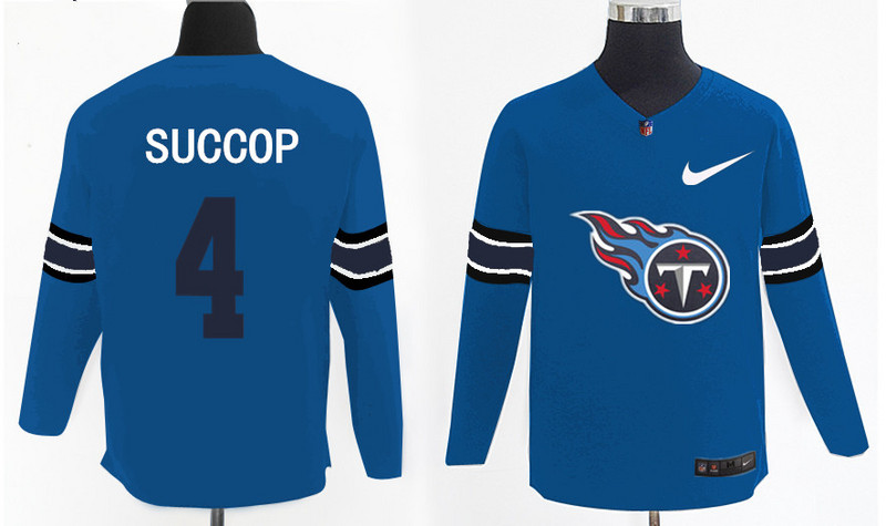 Nike Titans 4 Ryan Succop Light Blue Knit Sweater