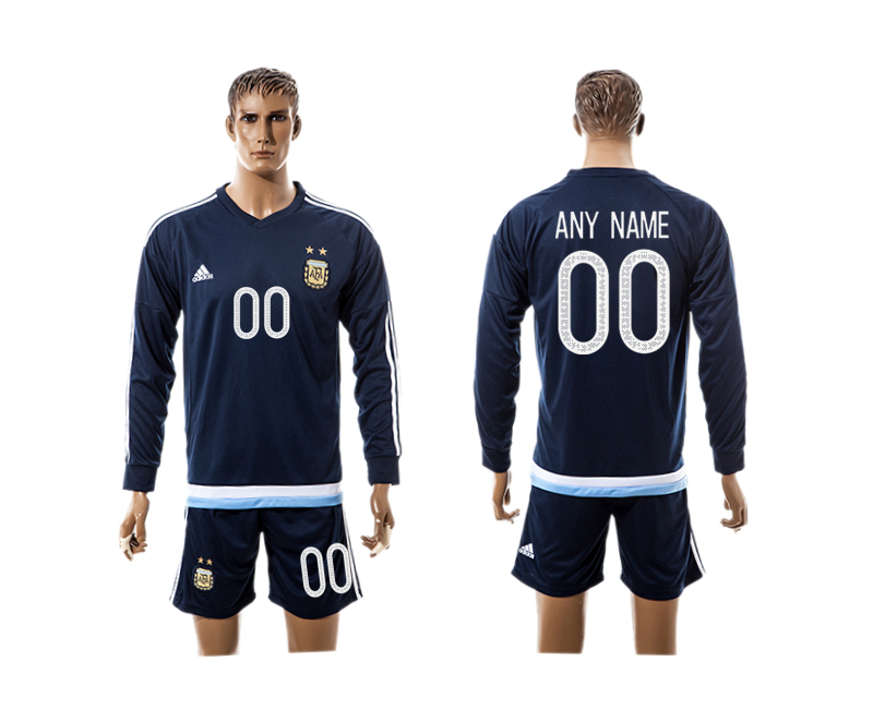 2016-17 Argentina Away Customized Long Sleeve Jersey