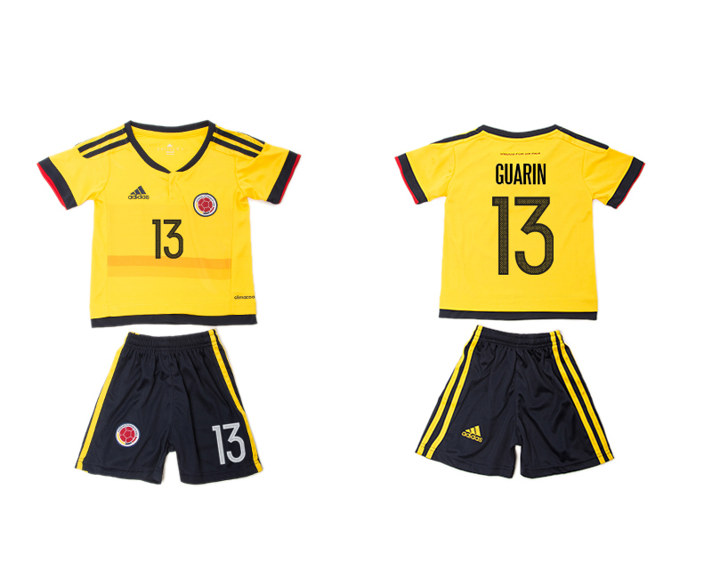2016-17 Colombia 13 GUARIN Home Youth Jersey
