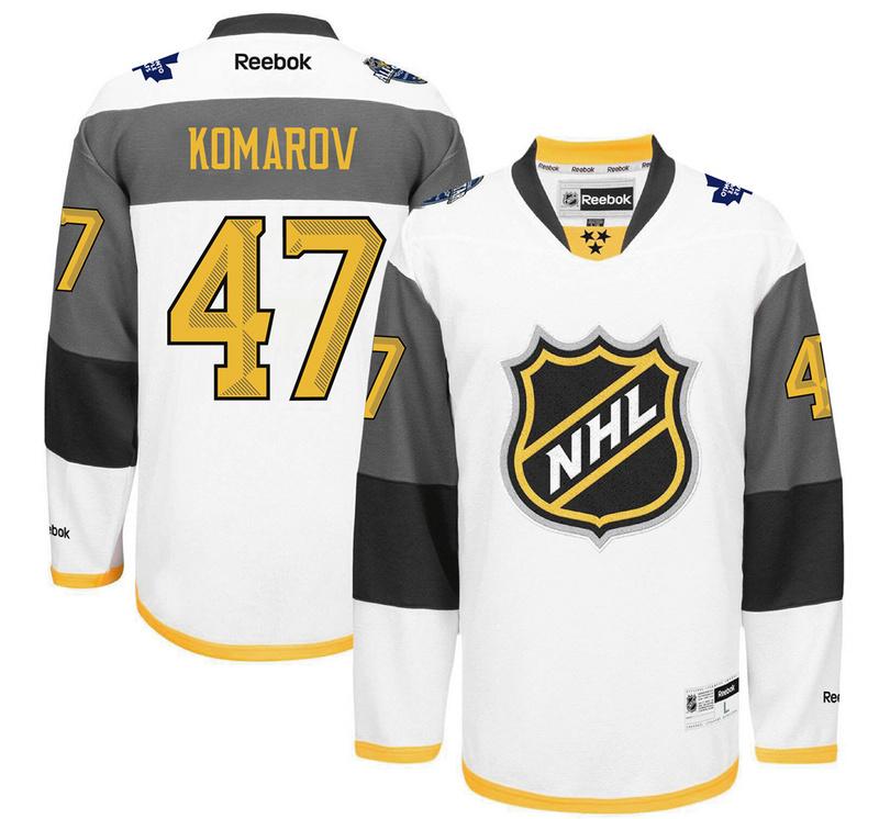 Maple Leafs 47 Leo Komarov White 2016 All-Star Premier Jersey