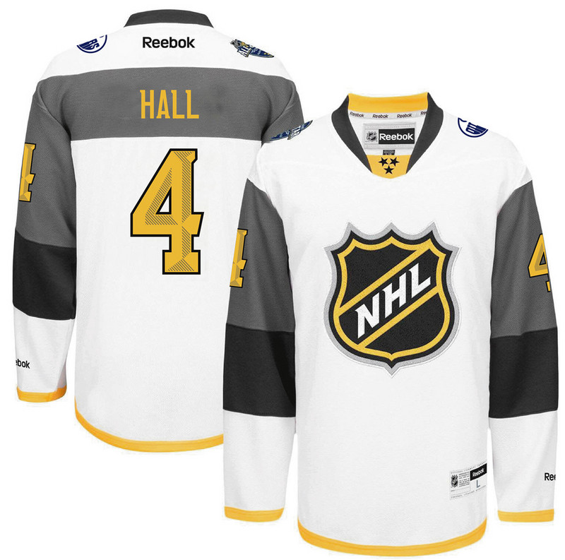 Oilers 4 Taylor Hall White 2016 All-Star Premier Jersey