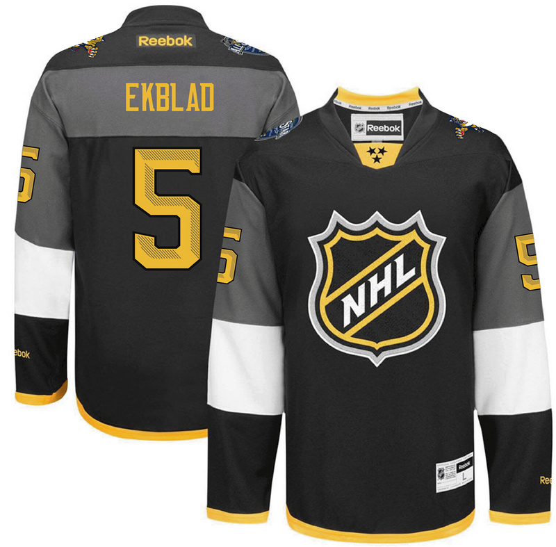 Panthers 5 Aaron Ekblad Black 2016 All-Star Premier Jersey