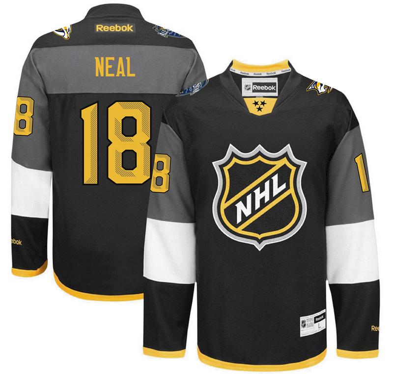 Predators 18 James Neal Black 2016 All-Star Premier Jersey