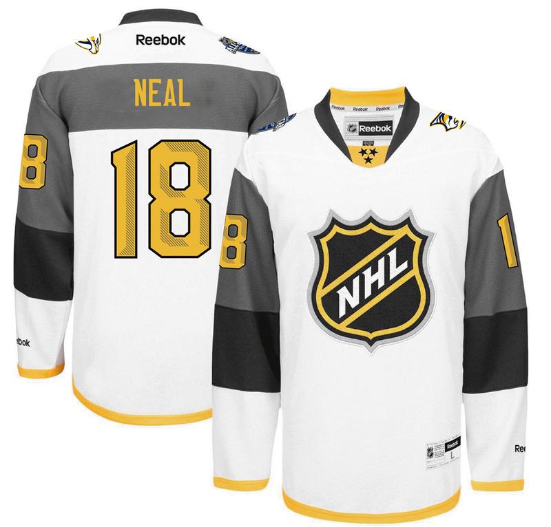 Predators 18 James Neal White 2016 All-Star Premier Jersey