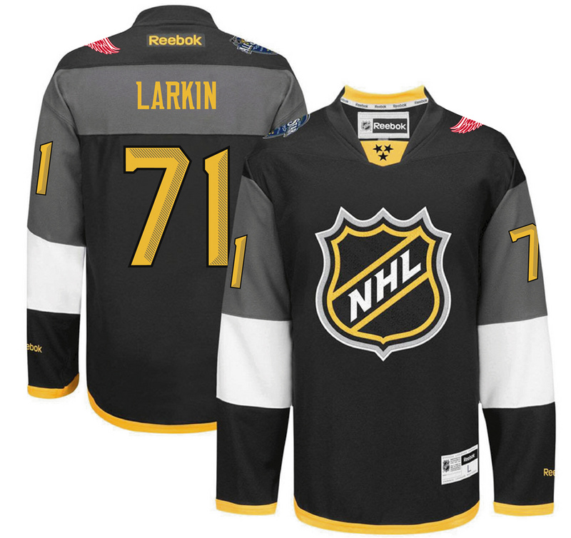 Red Wings 71 Dylan Larkin Black 2016 All-Star Premier Jersey
