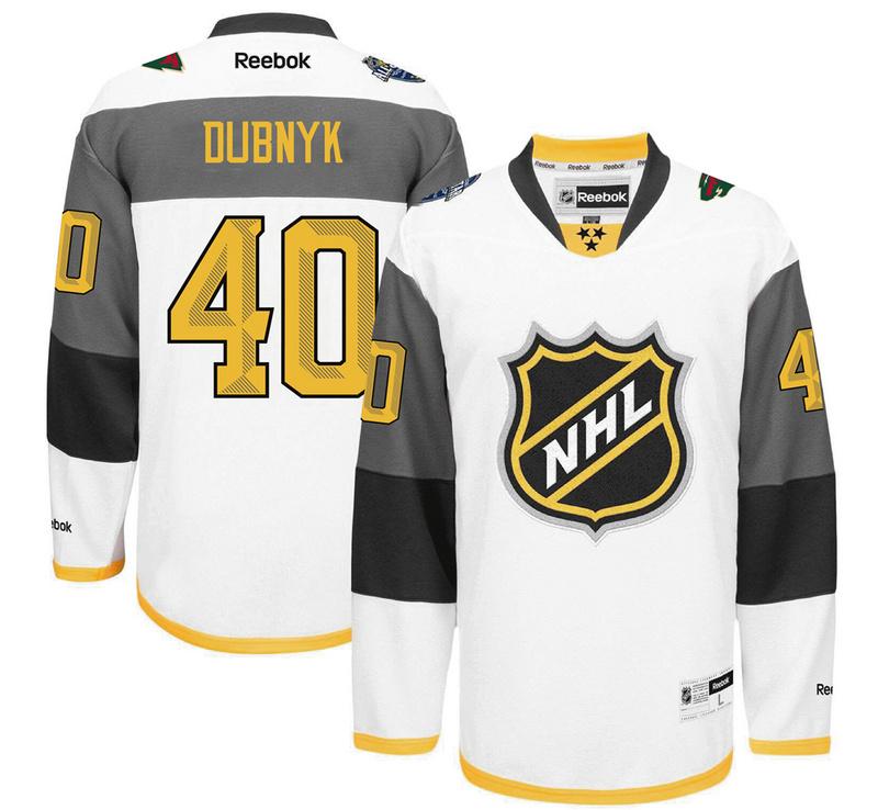 Wild 40 Devan Dubnyk White 2016 All-Star Premier Jersey