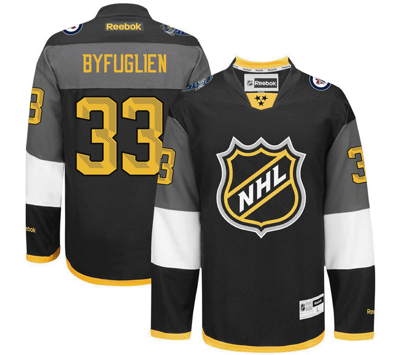 Winnipeg Jets 33 Dustin Byfuglien Black 2016 All-Star Premier Jersey