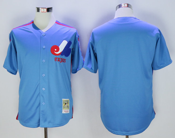 Expos Blank Light Blue 2000 Throwback Jersey