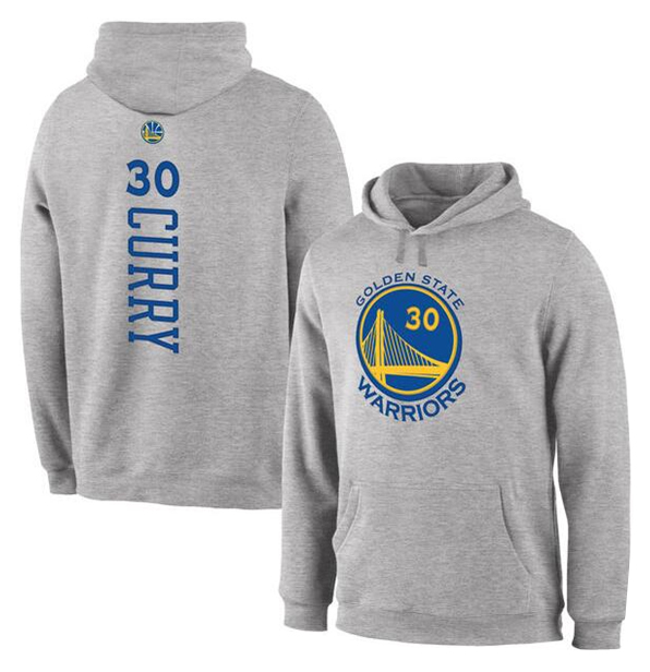 Warriors 30 Curry Grey Pullover Hoodie