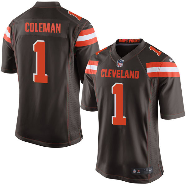 Nike Browns 1 Corey Coleman Brown 2016 Draft Pick Elite Jersey
