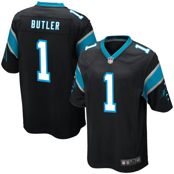 Nike Panthers 1 Vernon Butler Black 2016 Draft Pick Elite Jersey