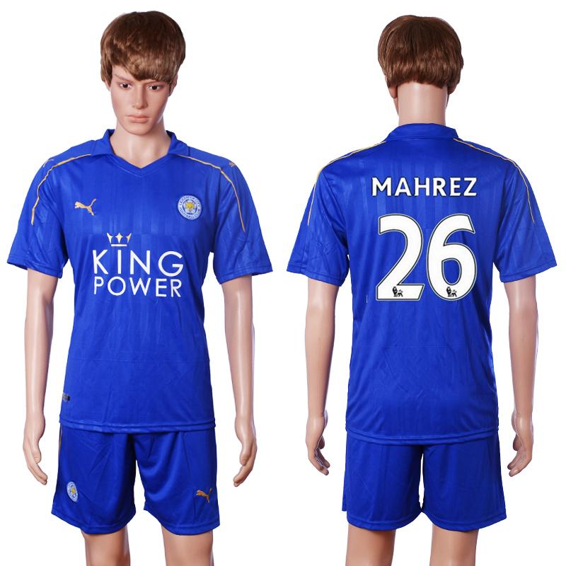 2016-17 Leicester City 26 MAHREZ Home Soccer Jersey