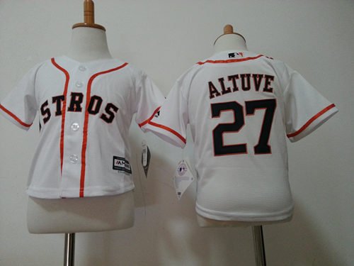 Astros 27 Jose Altuve White Toddler New Cool Base Jersey