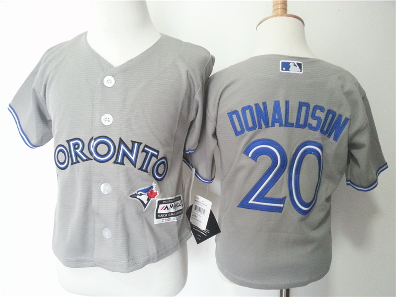 Blue Jays 20 Josh Donaldson Grey Toddler New Cool Base Jersey