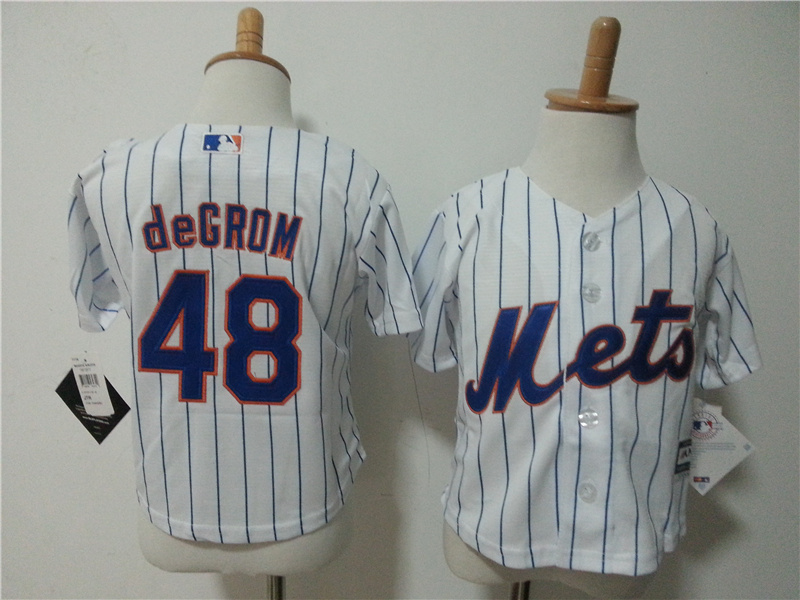 Mets 48 Jacob deGrom White Toddler New Cool Base Jersey