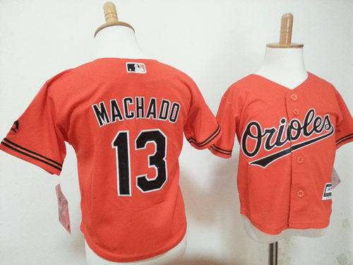 Orioles 13 Manny Machado Orange Toddler New Cool Base Jersey