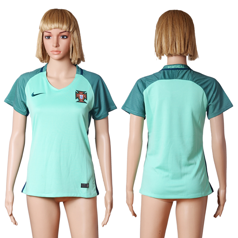 Portugal Away UEFA Euro 2016 Women Soccer Jersey