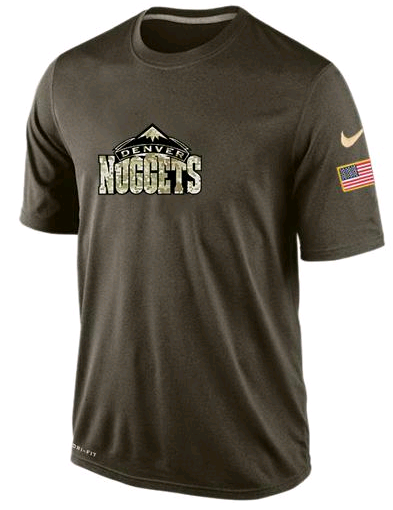 Nike Denver Nuggets Olive Salute To Service Men's Dri-Fit T-Shirt